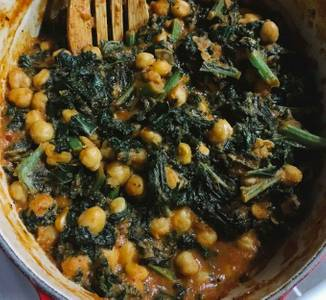 Dinner Saag Chana (GF) from Star Of India Tandoori Restaurant in Los Angeles, CA