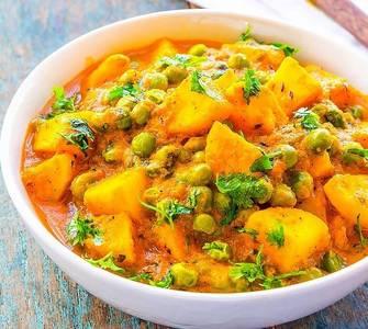 Lunch Aloo Matar (V) (GF) from Star Of India Tandoori Restaurant in Los Angeles, CA