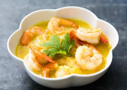 Lunch Coconut Shrimp (GF) from Star Of India Tandoori Restaurant in Los Angeles, CA