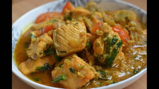 Lunch Salmon Bhuna (GF) from Star Of India Tandoori Restaurant in Los Angeles, CA