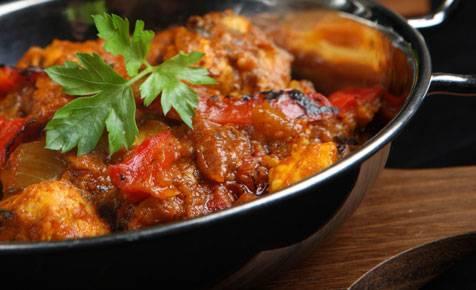 Lunch Salmon Vindaloo (GF) from Star Of India Tandoori Restaurant in Los Angeles, CA