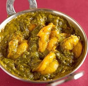 Lunch Shrimp Saag (GF) from Star Of India Tandoori Restaurant in Los Angeles, CA