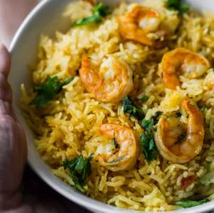 Shrimp Biryani from Star Of India Tandoori Restaurant in Los Angeles, CA