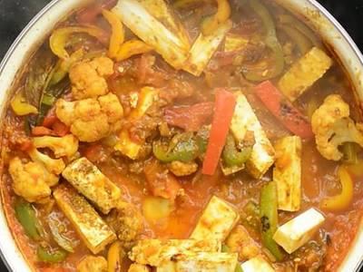Tofu Jalfrezi (V) (GF) from Star Of India Tandoori Restaurant in Los Angeles, CA