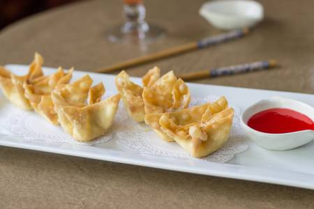 A16. Crab Rangoon (6) from Sushi Pirate in La Crosse, WI