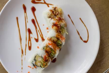 R23. Salmon Tempura Roll from Sushi Pirate in La Crosse, WI
