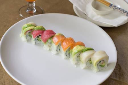 SP5. Rainbow Roll (8) from Sushi Pirate in La Crosse, WI