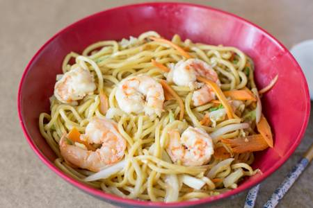 U5. Shrimp Lo Mein from Sushi Pirate in La Crosse, WI