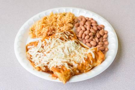Cheese Enchiladas from Taco King - W Liberty Rd. in Ann Arbor, MI