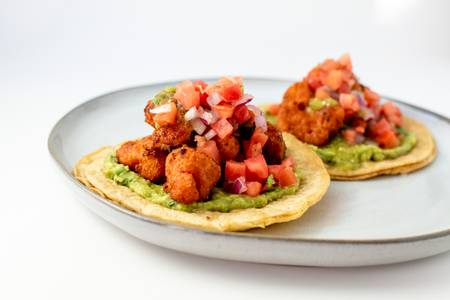 Beer Battered Cauliflower Tacos from Taco Royale - Hilldale in Madison, WI
