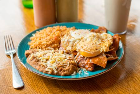 Chilaquiles from Taqueria Maldonado's - Main Street in Green Bay, WI