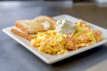 Smoked Salmon Scramble from The French Press in Eau Claire, WI