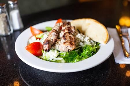 Souvlaki Salad from The Mad Greek in Lawrence, KS