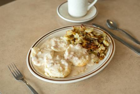 Biscuits and Gravy Breakfast from The Pancake Place in Green Bay, WI