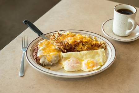Country Fried Steak Breakfast from The Pancake Place in Green Bay, WI