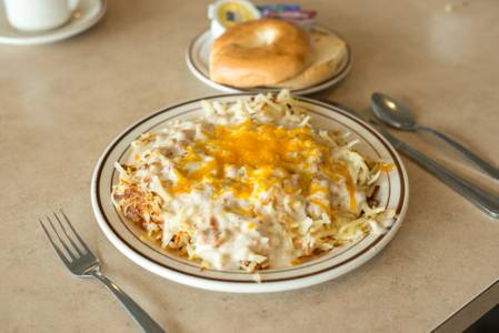 Country Style Stuffed Hash Browns Breakfast from The Pancake Place in Green Bay, WI