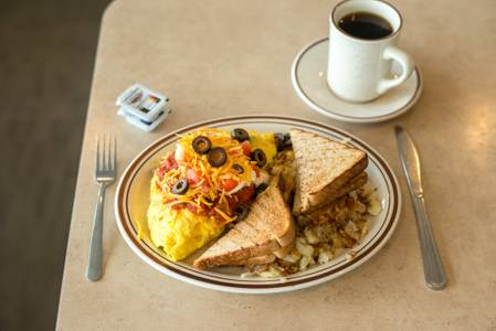Mexican Omelette Breakfast from The Pancake Place in Green Bay, WI