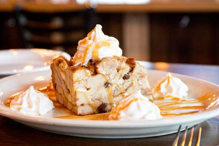 Bread Pudding from The Thirsty Goat in Madison, WI