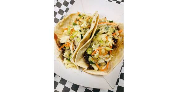 Braised Pork Tacos (2) from The Truck Stop in Milwaukee, WI
