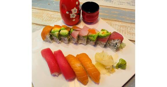 Rainbow Lunch from Tokyo Sushi in Madison, WI