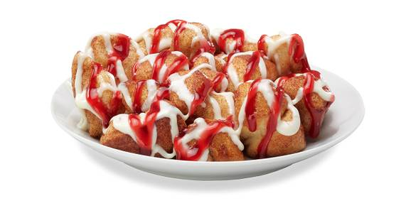 Raspberry Cheesecake Monkey Bread from Toppers Pizza - Lawrence in Lawrence, KS