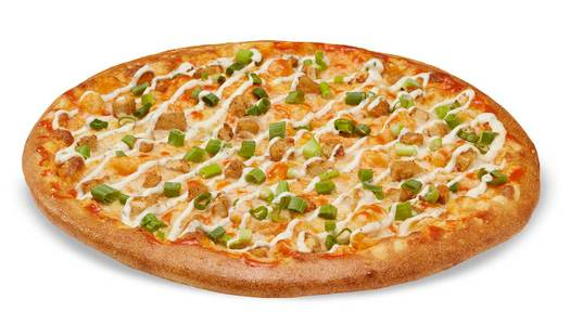 Vegan Buffalo Chicken-Less Topper Pizza from Toppers Pizza - Madison West in Madison, WI
