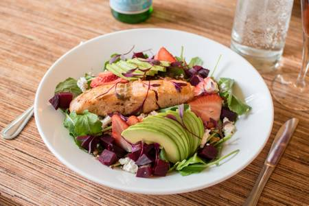 Salmon Salad from Villa Dolce in Middleton, WI