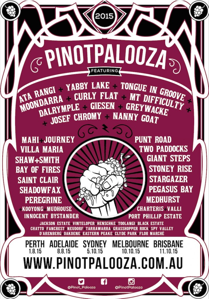 pinot palooza 2015 lineup