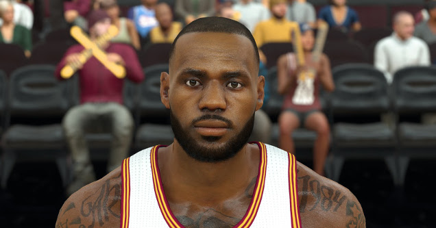 91ed9b878ea0 Watch LeBron James  NBA 2K Character Transform From Pixels Into ...