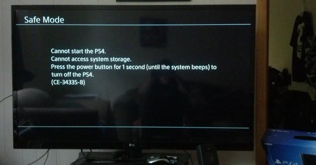PS4 broken error.