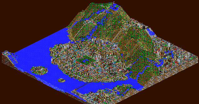 Graphic with Sim City Video Game