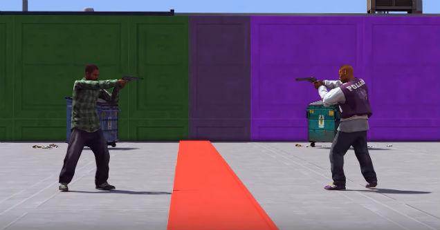 GTA5 gang fight.