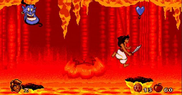 screen shot of Disney's Aladdin