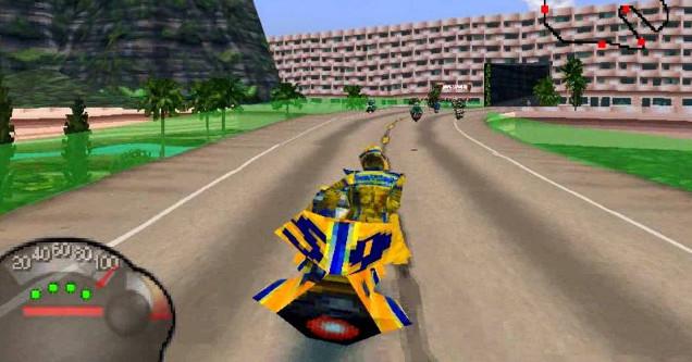 Screen shot of video game Jet Moto