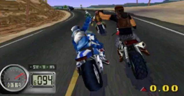 screen shot of video game Road Rash