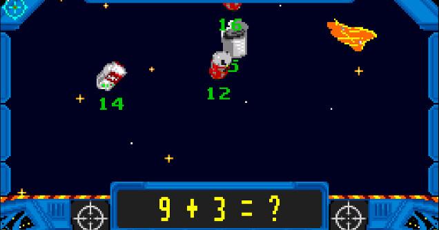 Math Blaster Video Game
