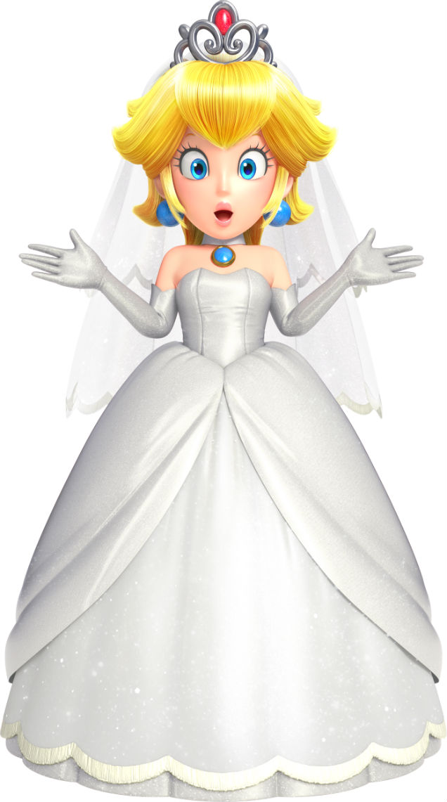 Mario can wear princess peachs wedding dress in super mario odyssey this wont be the only costume you can wear in the game you can also become a chef a mariachi musician and even a safari guide junglespirit Choice Image