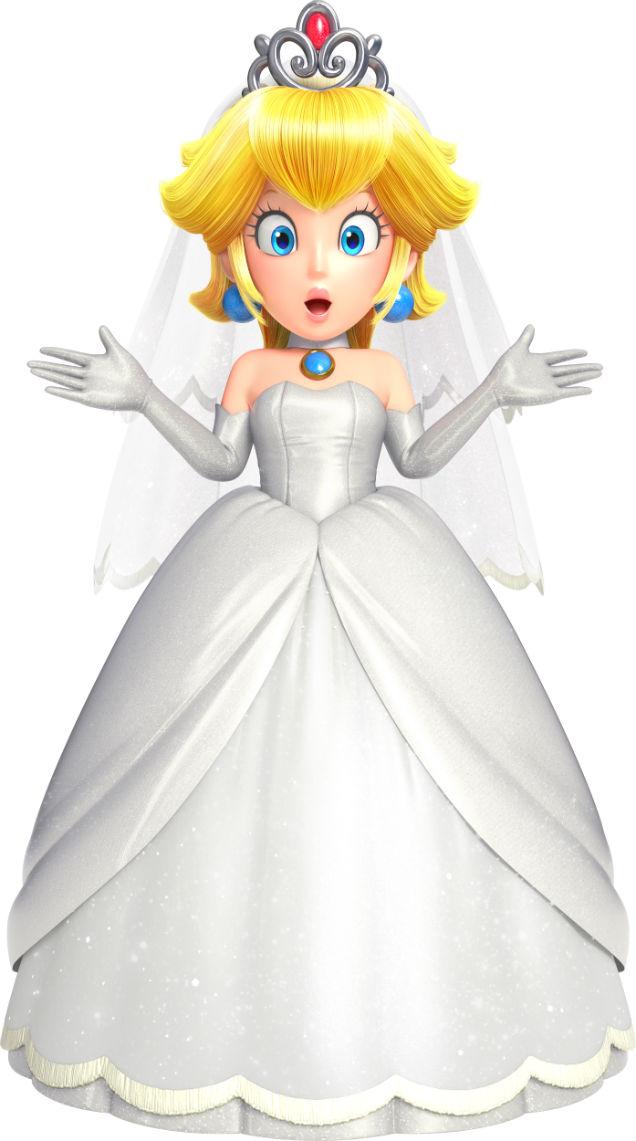 mario can wear princess peach39s wedding dress in super With princess peach wedding dress