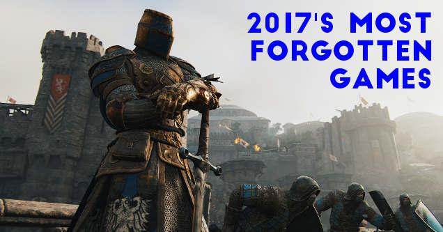 2017 most forgotten games