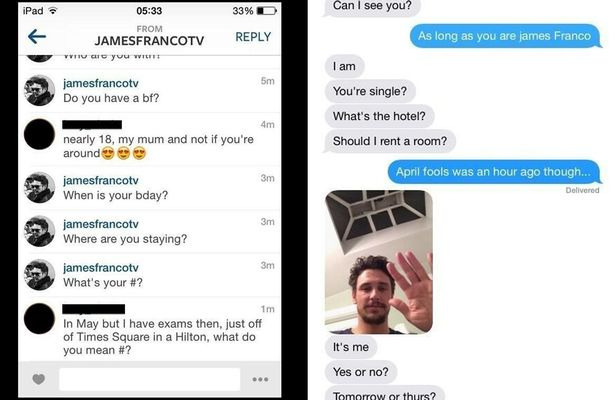 James Franco, texts, abuse, assault, golden globes