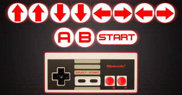 Game cheats Konami code