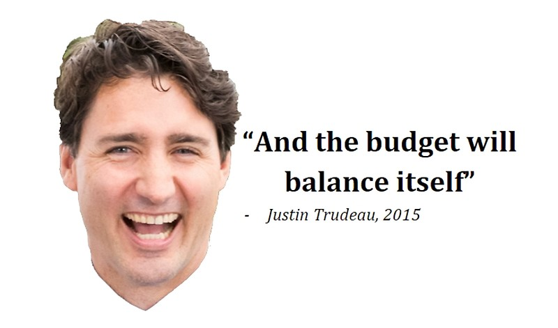 Justin Trudeau and the budget will balance itself