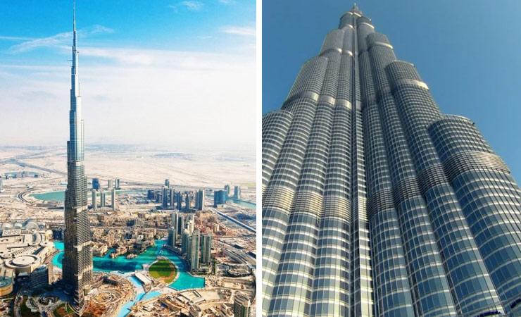 the burj khalifia skyscraper in dubai the tallest building in the world