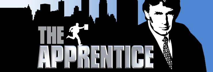 an advertisement for the tv show the apprentice starring donald j trump
