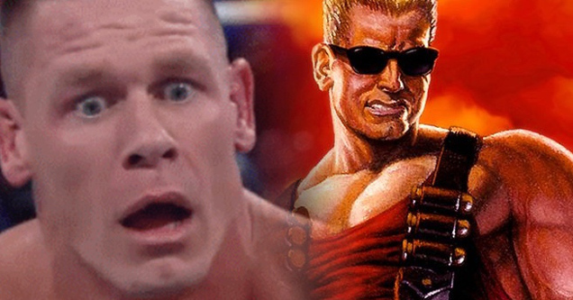 John Cena and Duke Nukem comparison.