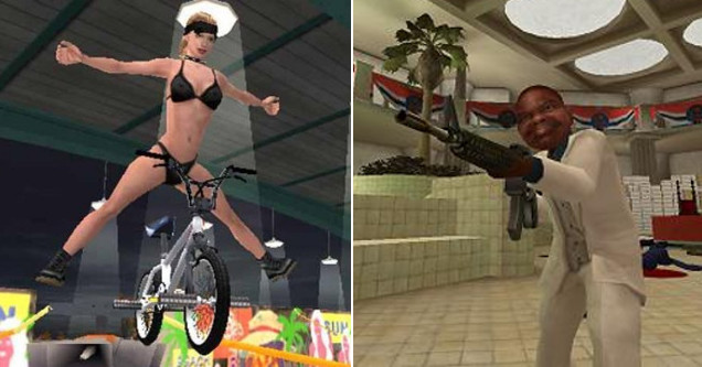 Offensive video games including BMX XXX and Postal 2.