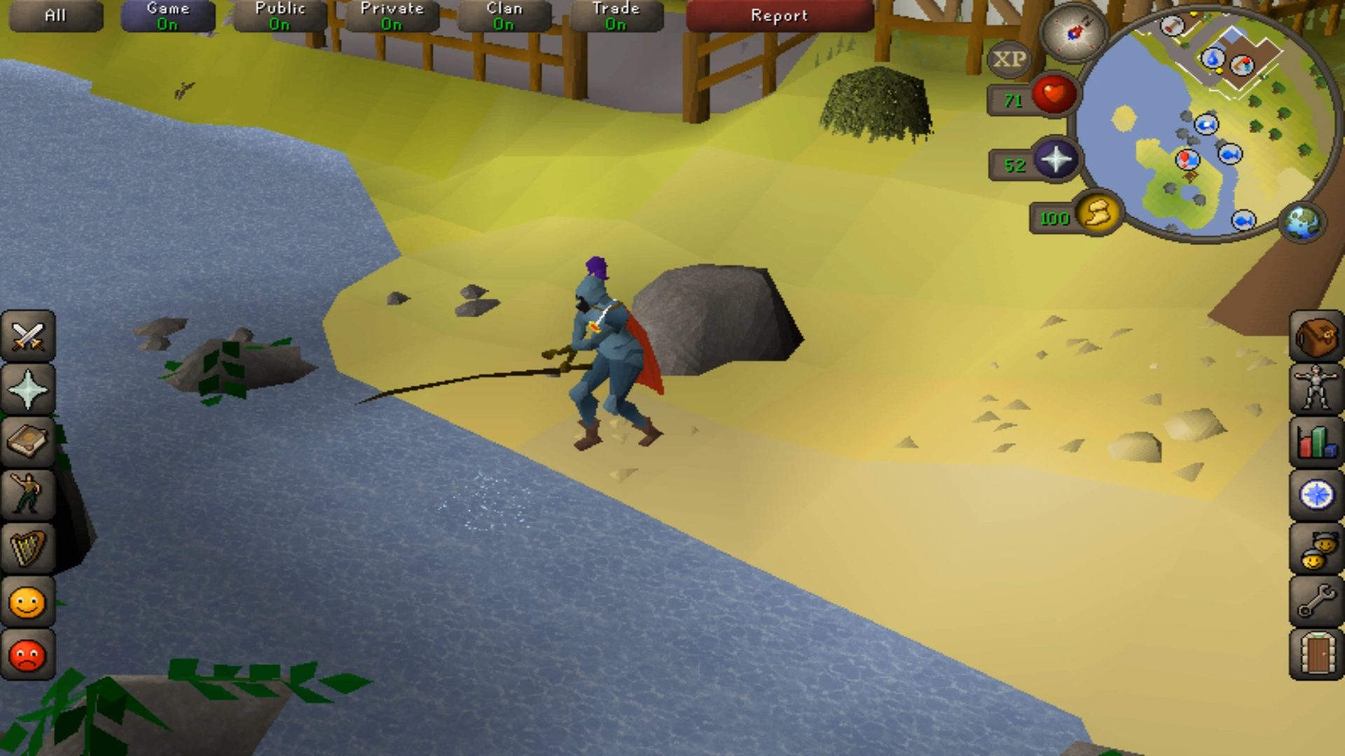 OldSchool RuneScape on mobile.