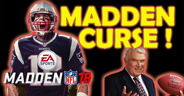 Madden Curse feature with Tom Brady and John Madden in 2018.