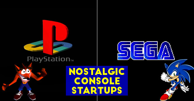 Nostalgic console startups for PlayStation 1 and SEGA Genesis.