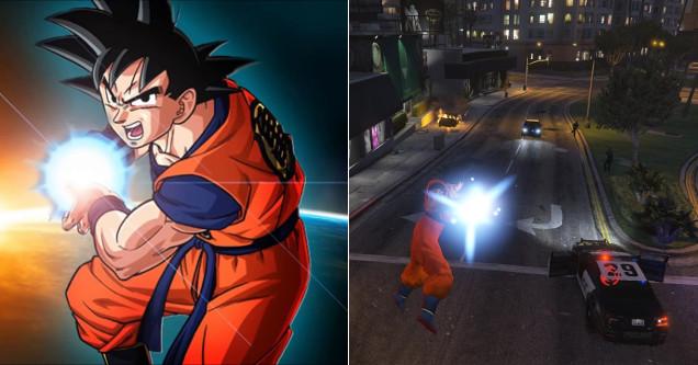 Dragon Ball Z Mod for Grand Theft Auto V.